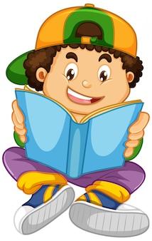 Menino, lendo um livro