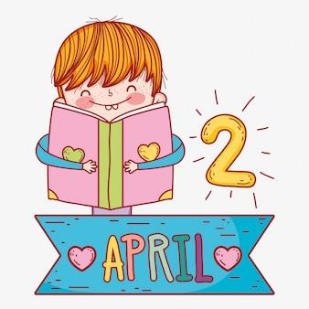 Menino, ler, livro, informação, conhecimento