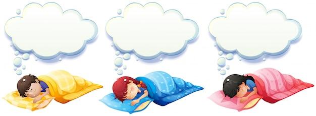 Menino menina, dormir, sob, a, cobertor