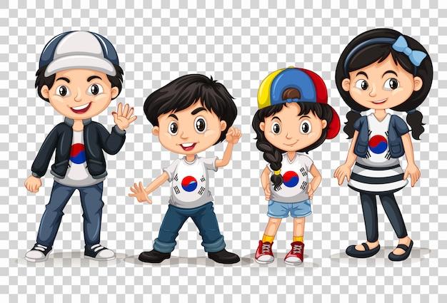 Meninos e meninas da coréia do sul