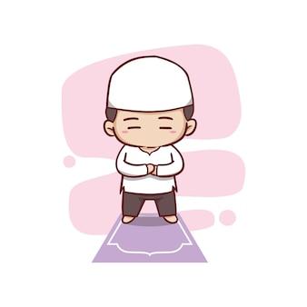 Meninos muçulmanos estão orando