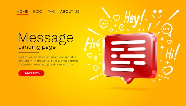 Mensagem com muitos ícones de bate-papo para comunicação do vetor de pessoas