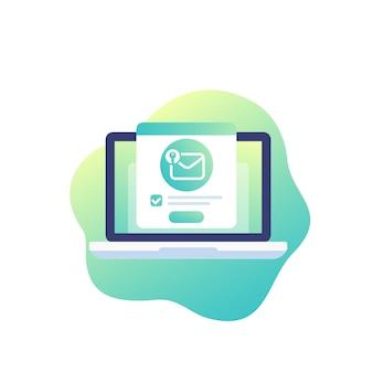 Mensagem criptografada, ícone de vetor de segurança de e-mail