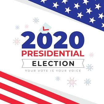 Mensagem da eleição presidencial dos eua em 2020