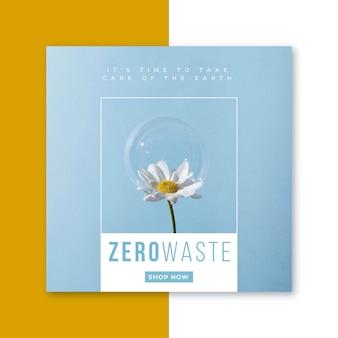 Mensagem de ecologia zero para resíduos do facebook