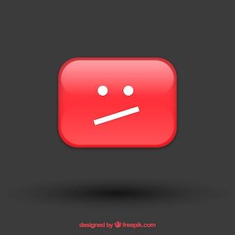 Mensagem de erro do youtube com design plano