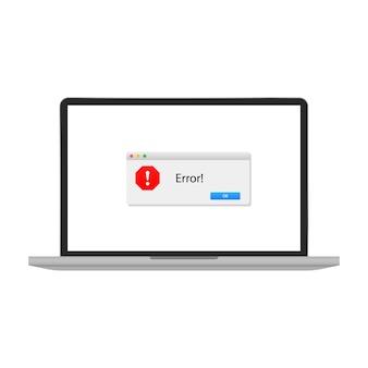 Mensagem de erro no seu laptop