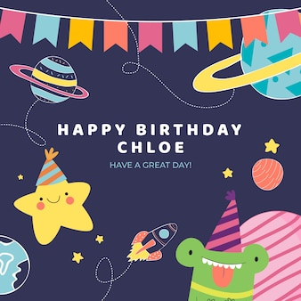 Mensagem de instagram de desejo de aniversário com espaço