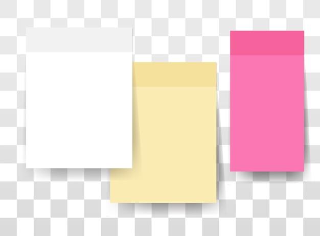 Mensagem de notas adesivas de cor em branco vazio para texto de espaço de cópia