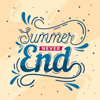 Mensagem de rotulação de verão