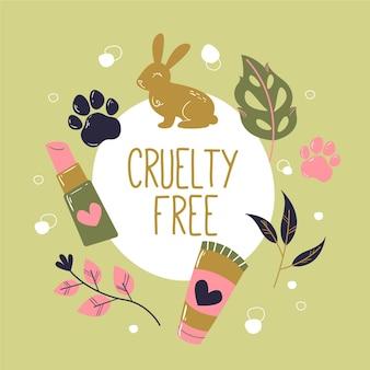 Mensagem e produtos sem crueldade