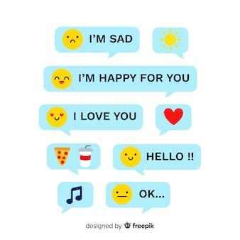 Mensagens com emoticons