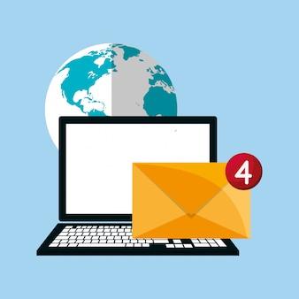 Mensagens da web através da imagem do computador