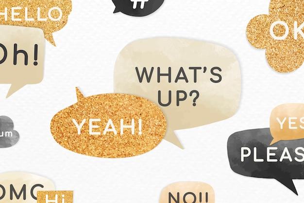 Mensagens de bolha de discurso motivacional