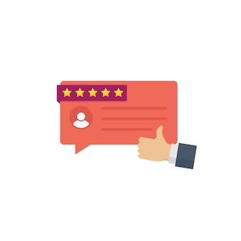 Mensagens de depoimento de clientes