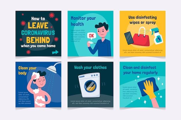 Mensagens de ig - como deixar o coronavírus para trás quando voltar para casa