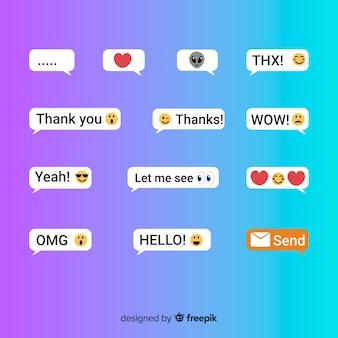 Mensagens de texto com emojis
