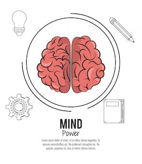 Mente poder e modelo de cérebro