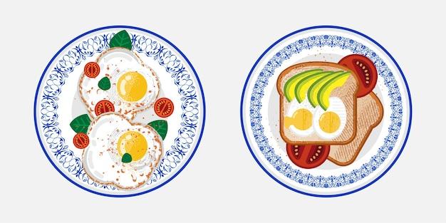 Menu à base de ovos para o café da manhã