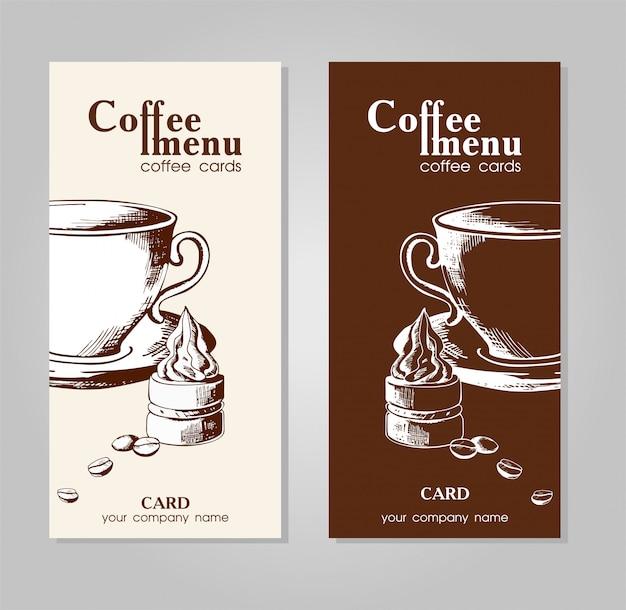 Menu de café para cafés e restaurantes