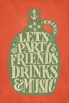 Menu de capa desenho vintage para pub, bar, café e restaurante