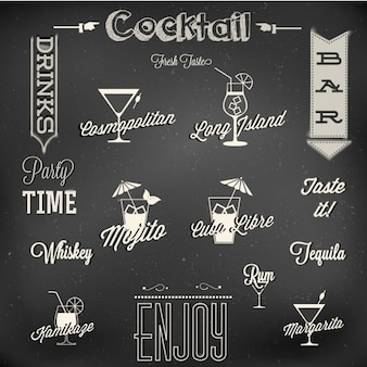 Menu de cocktails