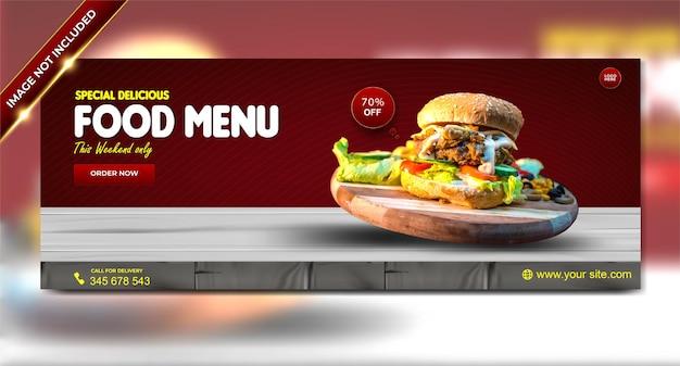 Menu de comida de luxo especial delicioso hambúrguer modelo de história do facebook do instagram