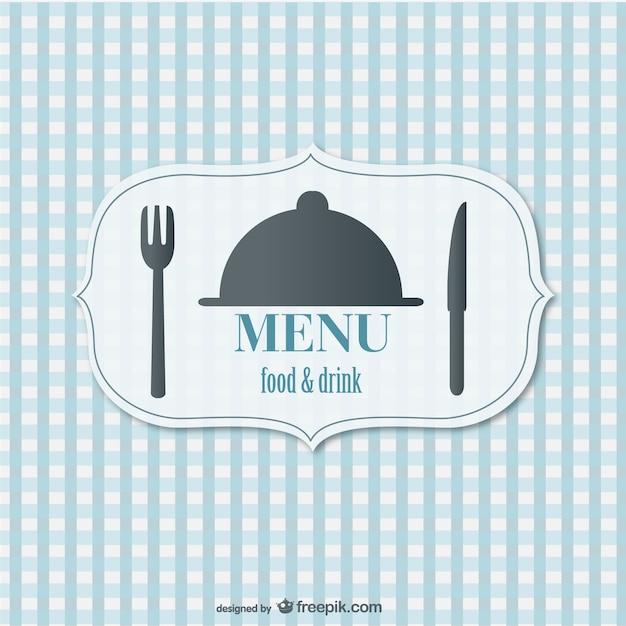 Menu de comida retro vector