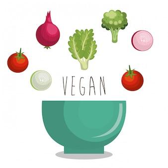 Menu de comida vegetariana