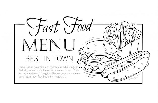 Menu de fast-food.