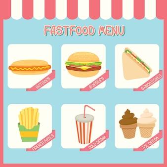 Menu de fastfood.