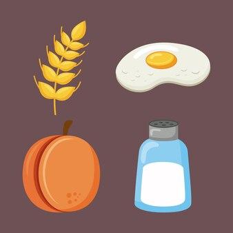 Menu de ingredientes da dieta de minerais