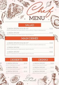 Menu de restaurante digital