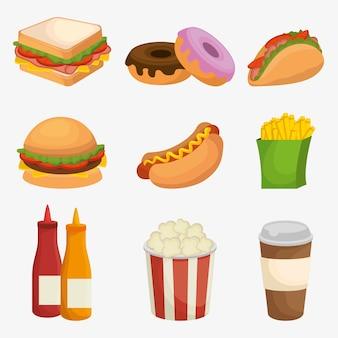 Menu de restaurante fast food