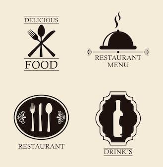 Menu de restaurante sobre ilustração vetorial de fundo bege