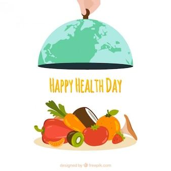 Menu de vegetais fundo do dia de saúde