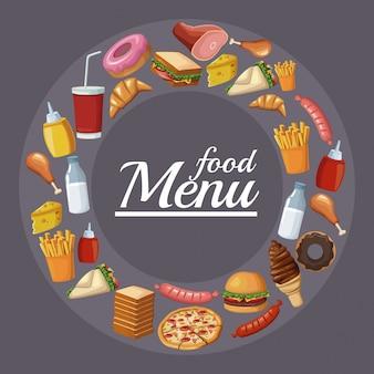 Menu do restaurante de comida