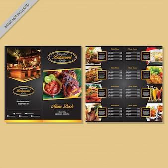 Menu do restaurante design do livro