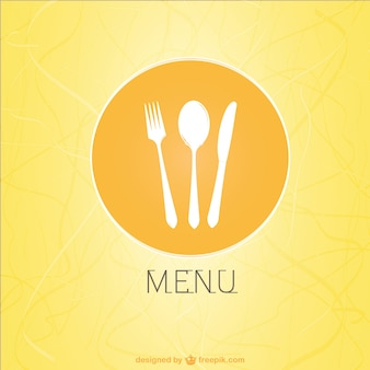 Menu do restaurante design vector