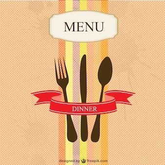 Menu do restaurante vetor design simples