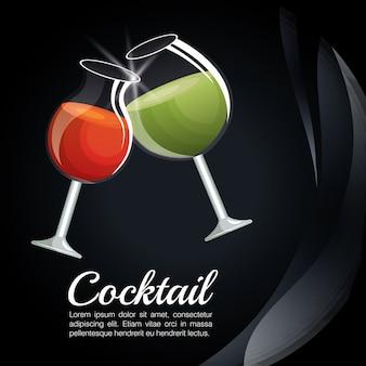 Menu lista de cocktails bar