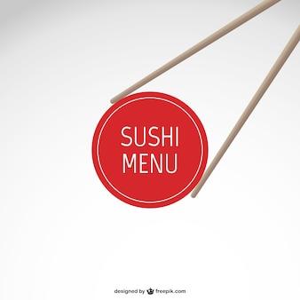 Menu sushi vector