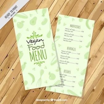 Menu vegan bonito verde