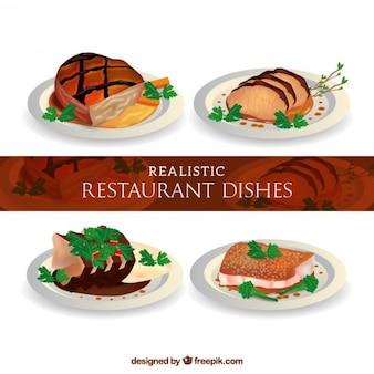 Menus deliciosos bifes