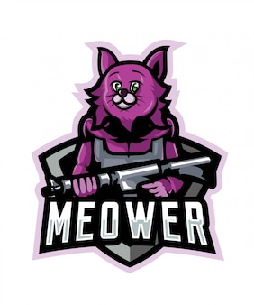 Meower logotipo esportivo