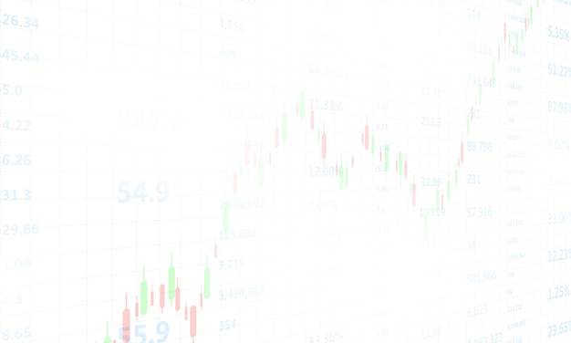 Mercado de ações, gráfico econômico com diagramas, negócios e conceitos e relatórios financeiros, fundo abstrato tecnologia conceito de comunicação
