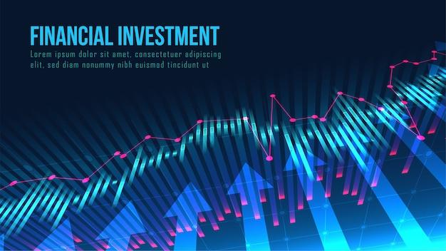 Mercado de ações ou conceito de indicadores de negociação forex
