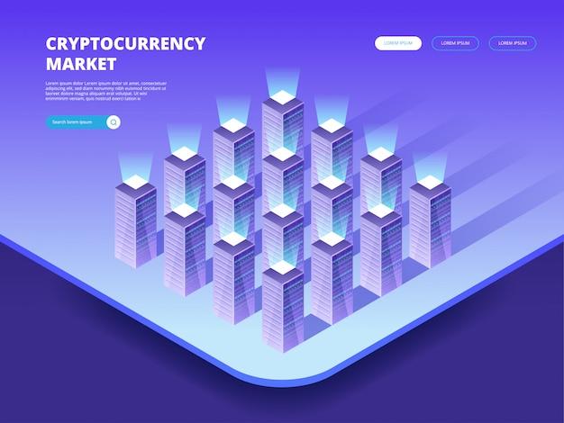 Mercado de criptomoedas. criptomoeda e blockchain