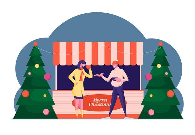 Mercado de natal ou feira ao ar livre