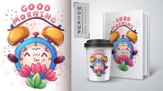 Merchandising de despertador de flores
